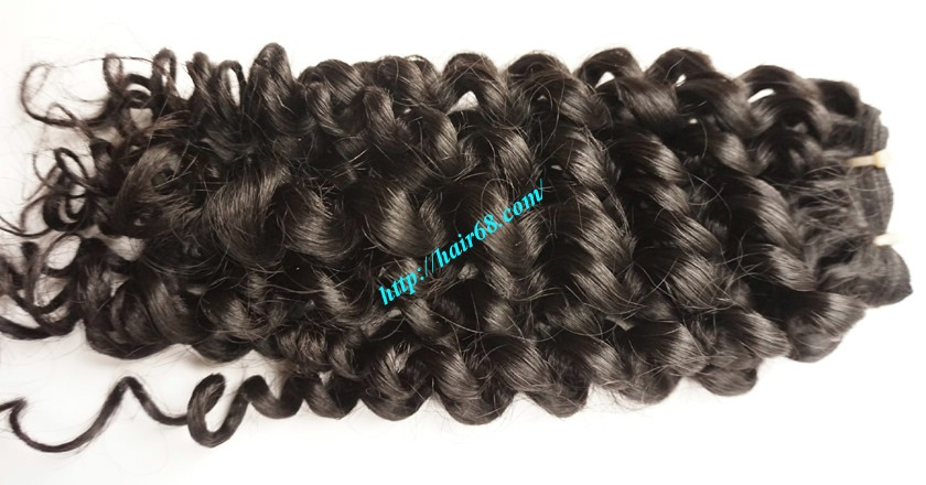 8 inch Curly Weave Hair Extensions – Double Drawn 3