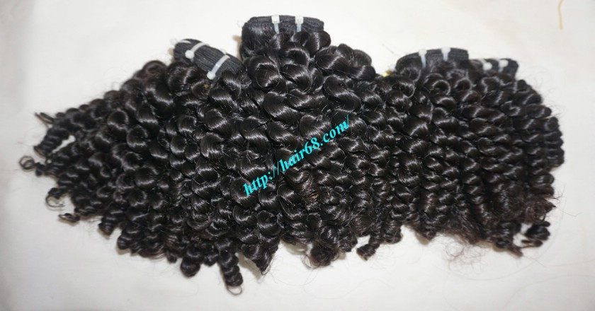8 inch Curly Weave Hair Extensions – Double Drawn 4