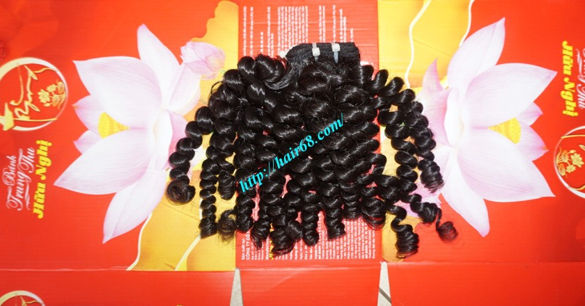 8 inch Curly Weave Hair Extensions – Double Drawn 6