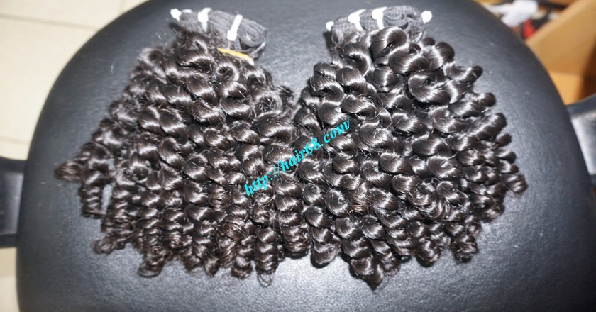 8 inch Curly Weave Hair Extensions – Double Drawn 7
