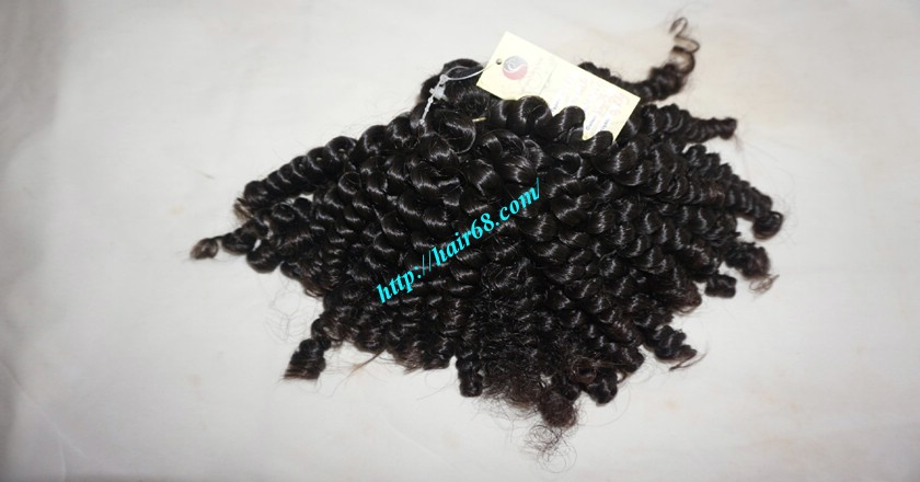 8 inch Curly Weave Hair Extensions – Double Drawn 8
