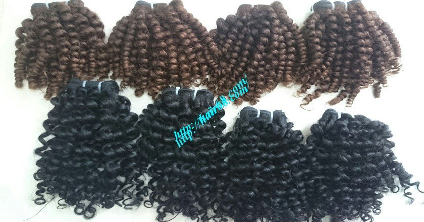8 inch Remy Curly Weave Human Hair– Single Drawn 3