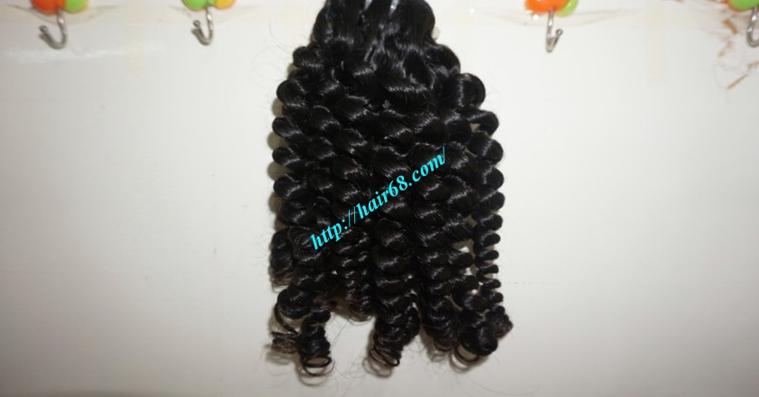 8 inch Remy Curly Weave Human Hair– Single Drawn 4