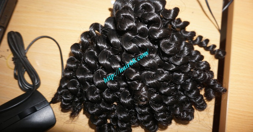 8 inch Remy Curly Weave Human Hair– Single Drawn 5