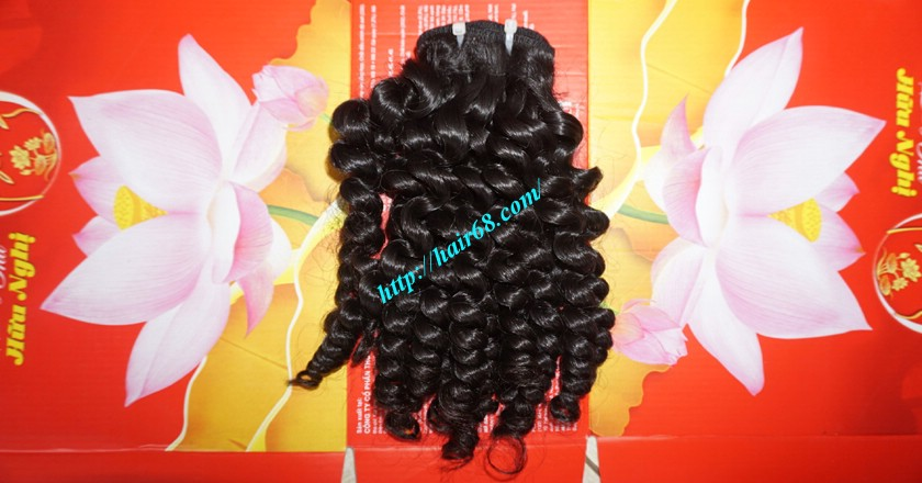 8 inch Remy Curly Weave Human Hair– Single Drawn 6