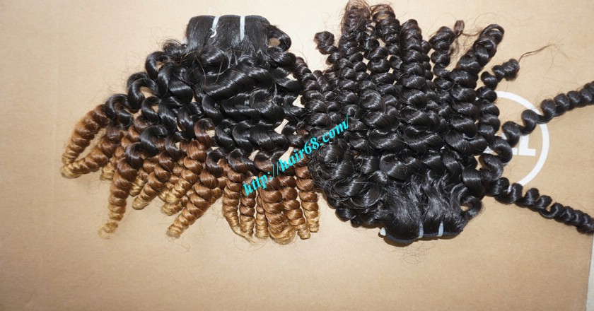 8 inch Remy Curly Weave Human Hair– Single Drawn 7