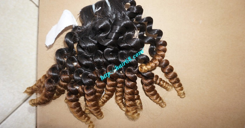 8 inch Remy Curly Weave Human Hair– Single Drawn 8