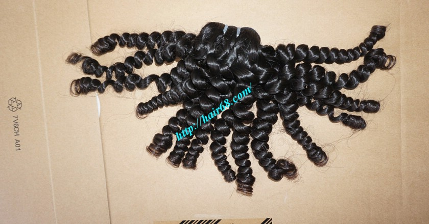 8 inch Remy Curly Weave Human Hair– Single Drawn 9