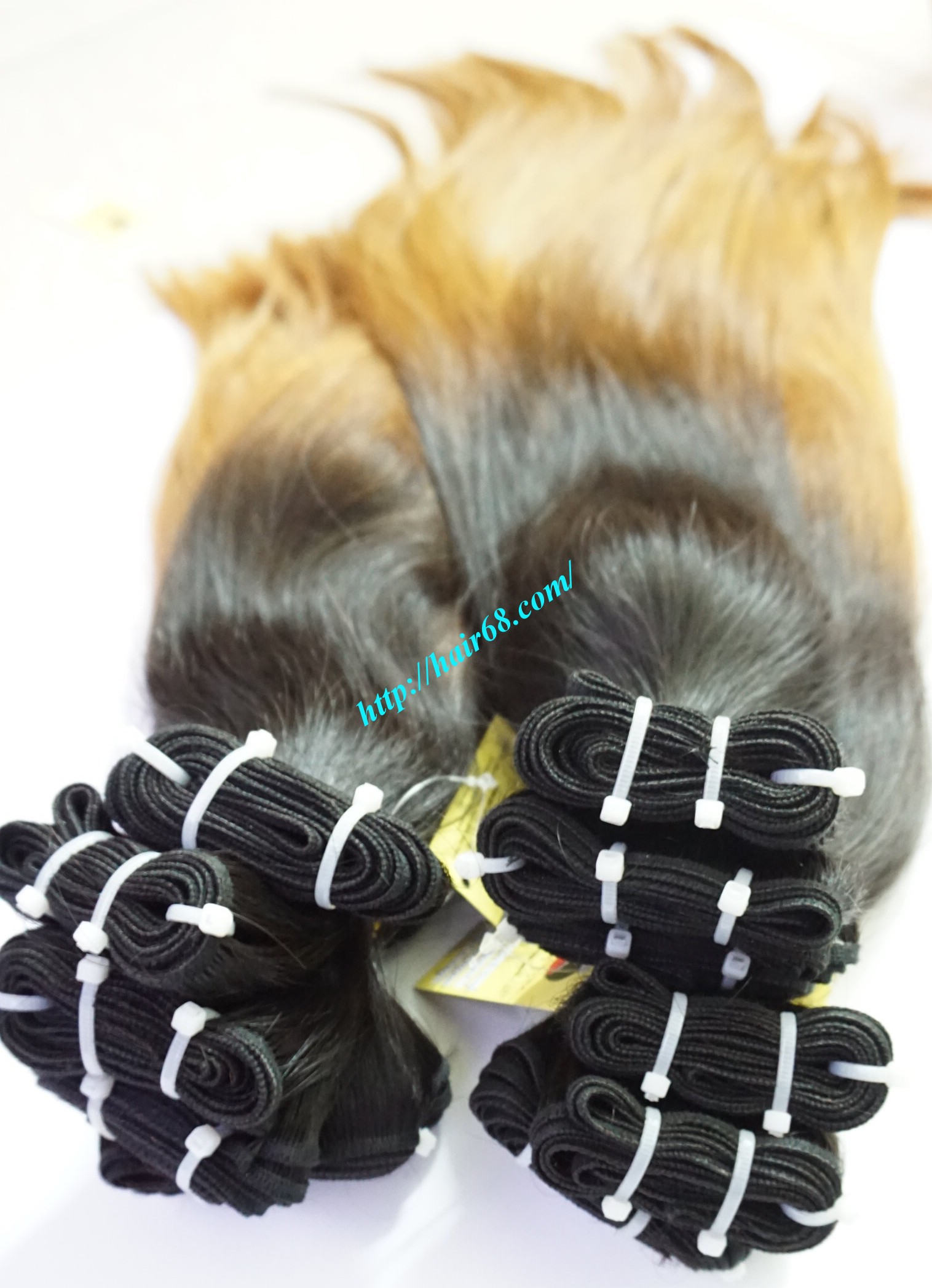 16 inch ombre hair extension vietnam hair 3