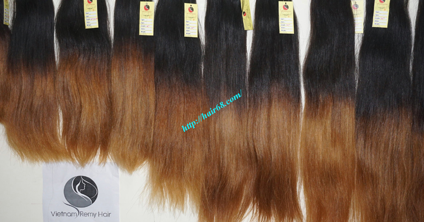 16 inch ombre hair extension vietnam hair 4