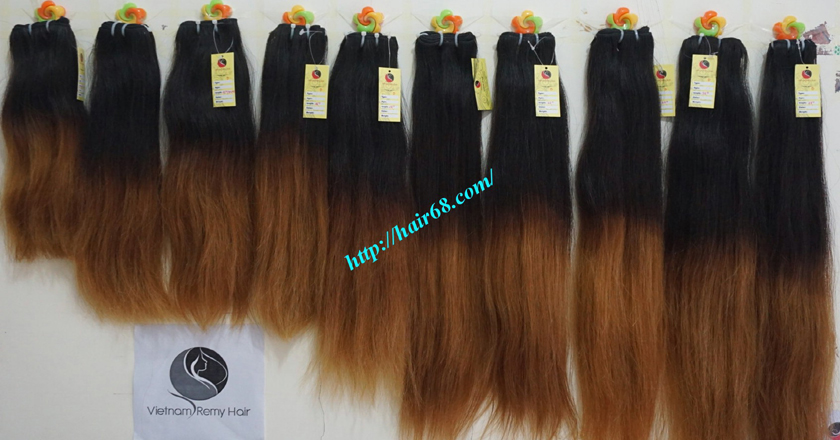 Buy Online Ombre Hair Extensions Weft 24 Inch Straight