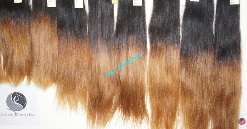 24 inch ombre hair extensions weft vietnam hair 9
