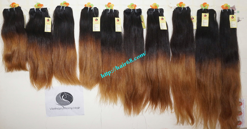 8 inch ombre weave hair extensions vietnam hair 10