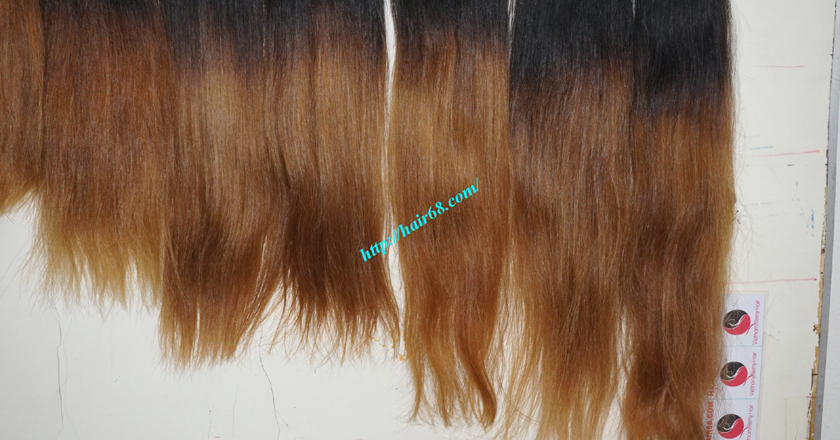 8 inch ombre weave hair extensions vietnam hair 11