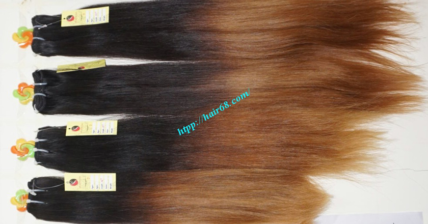 8 inch ombre weave hair extensions vietnam hair 12