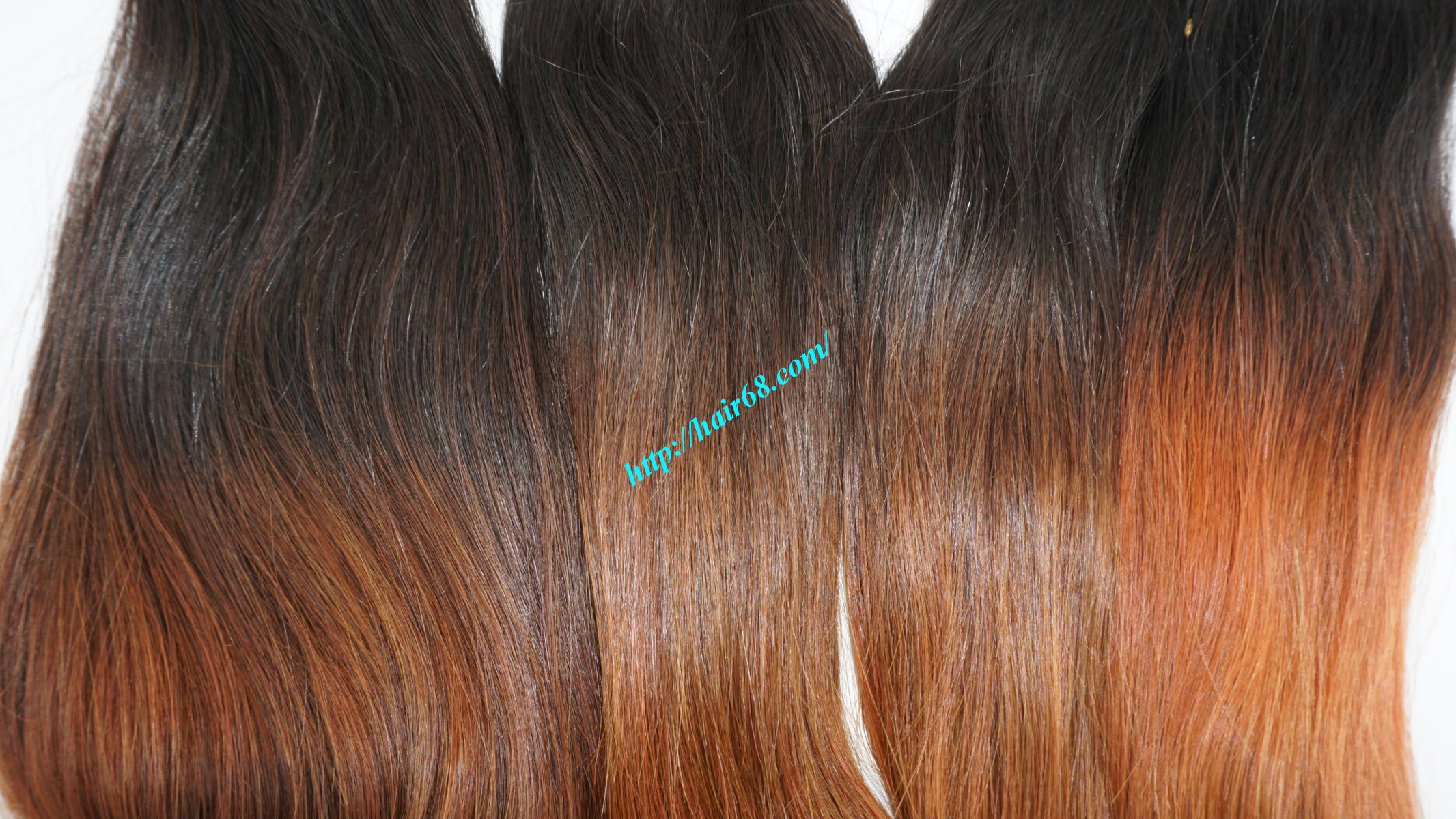 8 inch ombre weave hair extensions vietnam hair 3